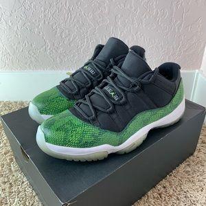 Jordan 11 Low Green Snake Snakeskin Rare